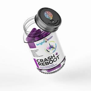 Bottle of Crash & Reboot from Bright Brain